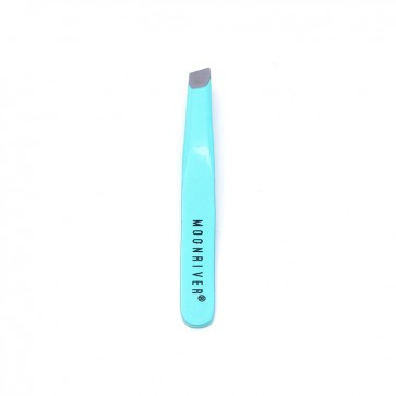 Small Angled-Tip Tweezer - Turquoise