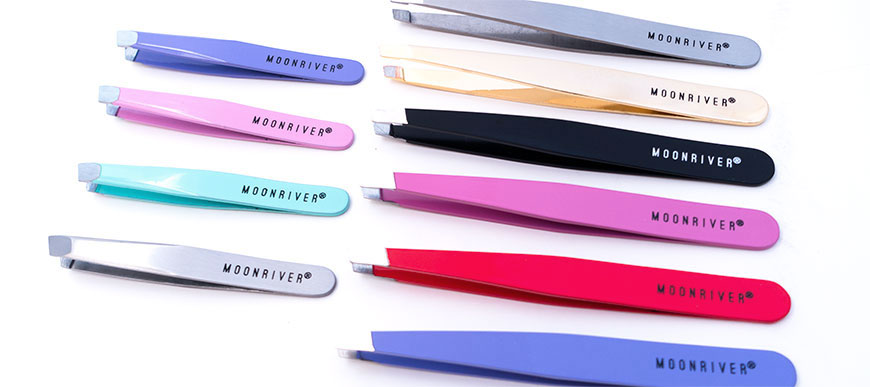 Pink Tweezers, Purple Tweezers, Gold Tweezers, Black Tweezers, Blue Tweezers and Silver Tweezers